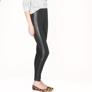J. Crew Gigi Pant with Leather on the side
